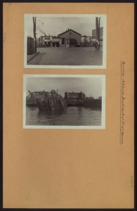 Astoria's ferry landing. Courtesy of the New York Public Library.