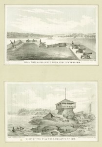 Fort Stevens was built during the war of 1812. Today, the site is Whitey Ford Field. Courtesy of the New York Public Library.