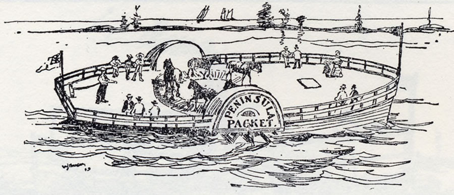 Depiction of a Canadian horse boat. Courtesy of: