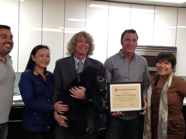 OANA HONORS CREATOR OF BUGSY'S DOG RUN