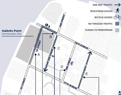 Halletts Point Traffic Circulation Changes