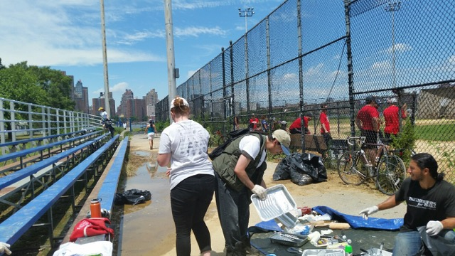 Recap of the Friends of Whitey Ford Field Cleanup Saturday July 8
