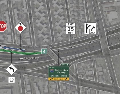 Changes to Grand Central Parkway Westbound at Exit 4