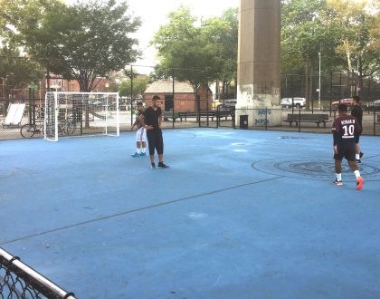 NYC Initiative Soccer Field Opens at Triborough Bridge Playground