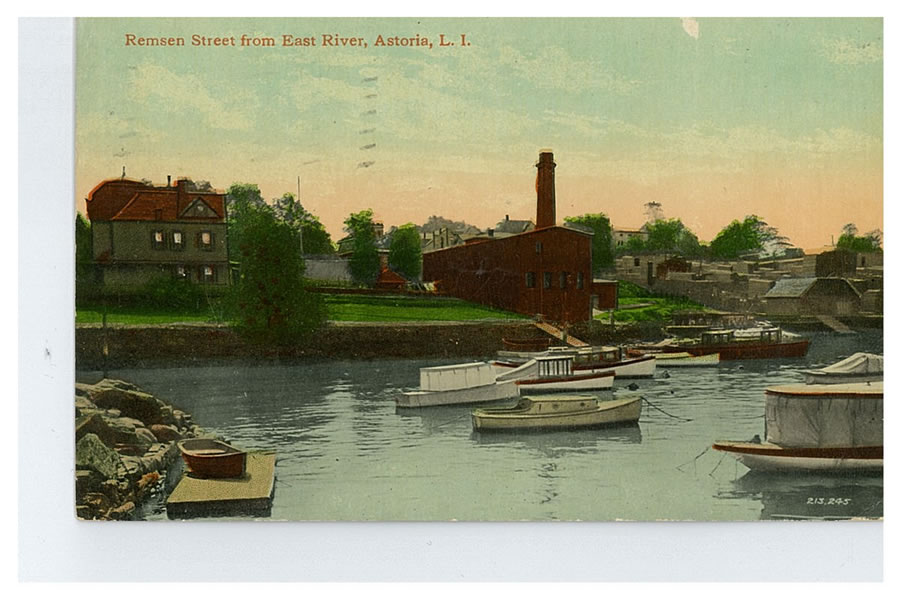 Remsen Street (present-day 12th Street) seen from the river. Courtesy of Dominique Perot.