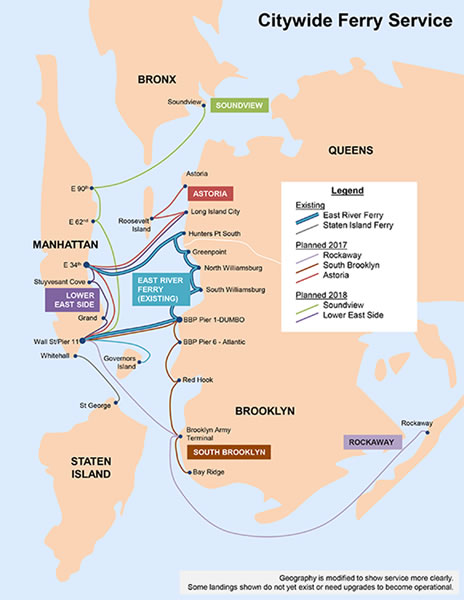 1 EDC map of the new ferry routes