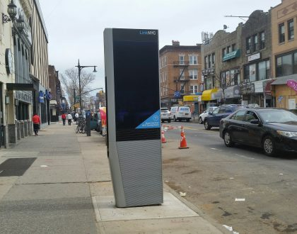 LINK NYC Kiosks Seen in Astoria