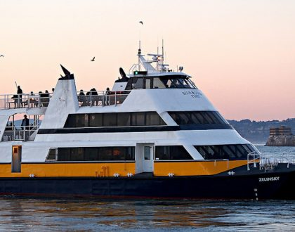 San Francisco Ferry Boat Visits New York