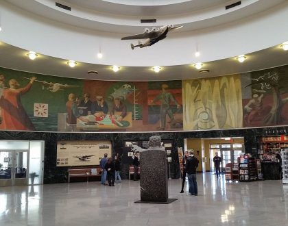 The mural Flight at Terminal A, LaGuardia Airport