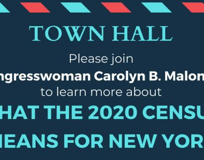 Census Town Hall with Carolyn Maloney on March 16