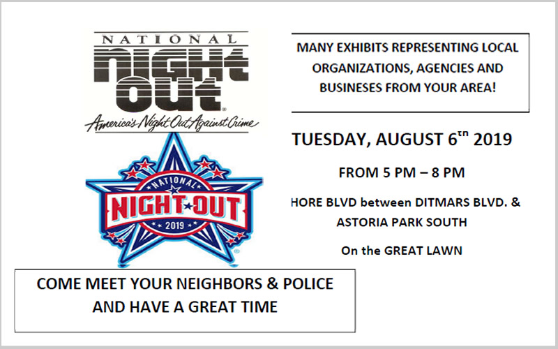 National Night Out against Crime August 6th, 2019