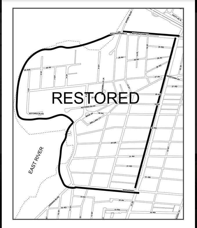 street cleaning map Astoria