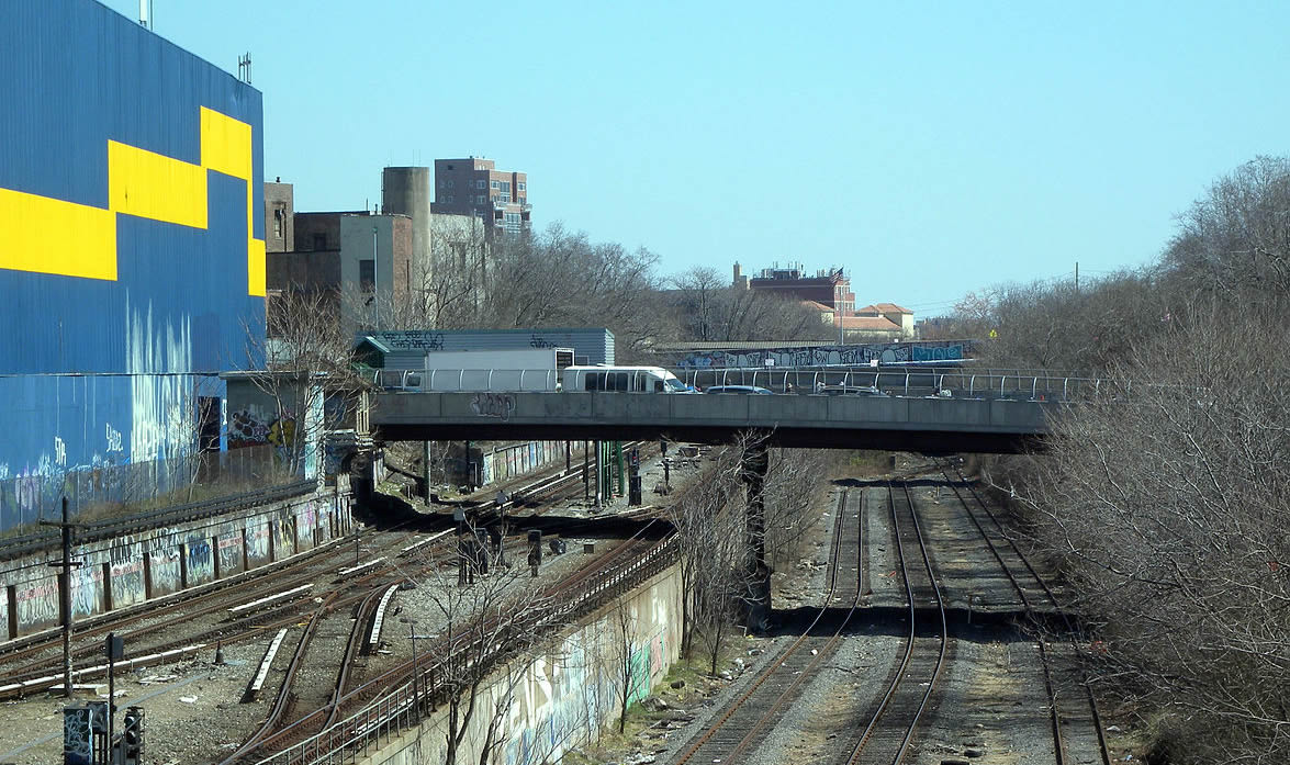 Existing Bay Ridge freight line