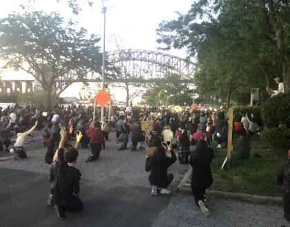 Astoria Park vigil and protest