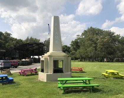 Paul Ramírez Jonas' 'Eternal Flame' on View at Socrates Sculpture Park