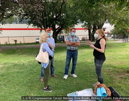 Congresswoman Maloney, Ernie Brooks, Richard Khuzami, Kate Peterson