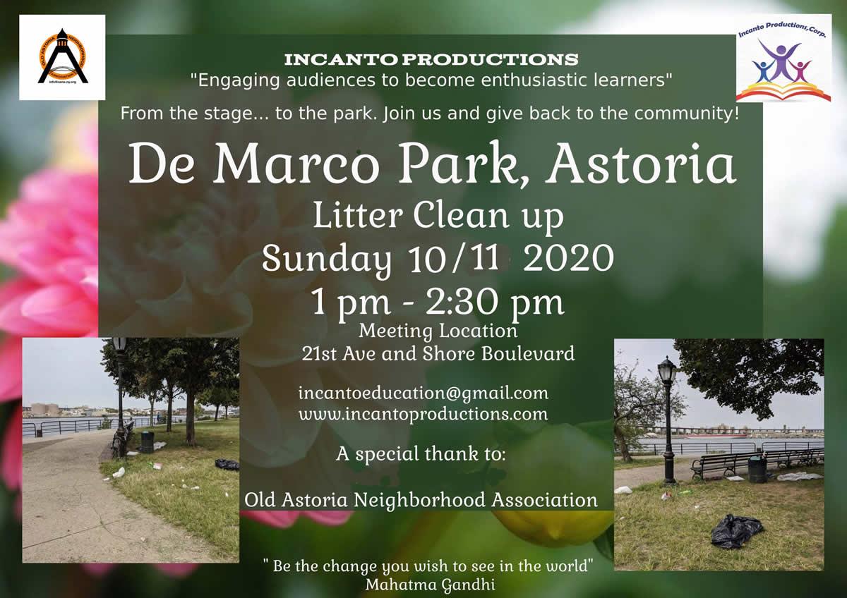 De Marco Park Clean-Up on October 11