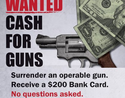 No Questions Asked Gun Buy Back Program