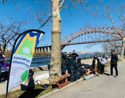 The Astoria Park Alliance 2021 Shoreline Cleanup
