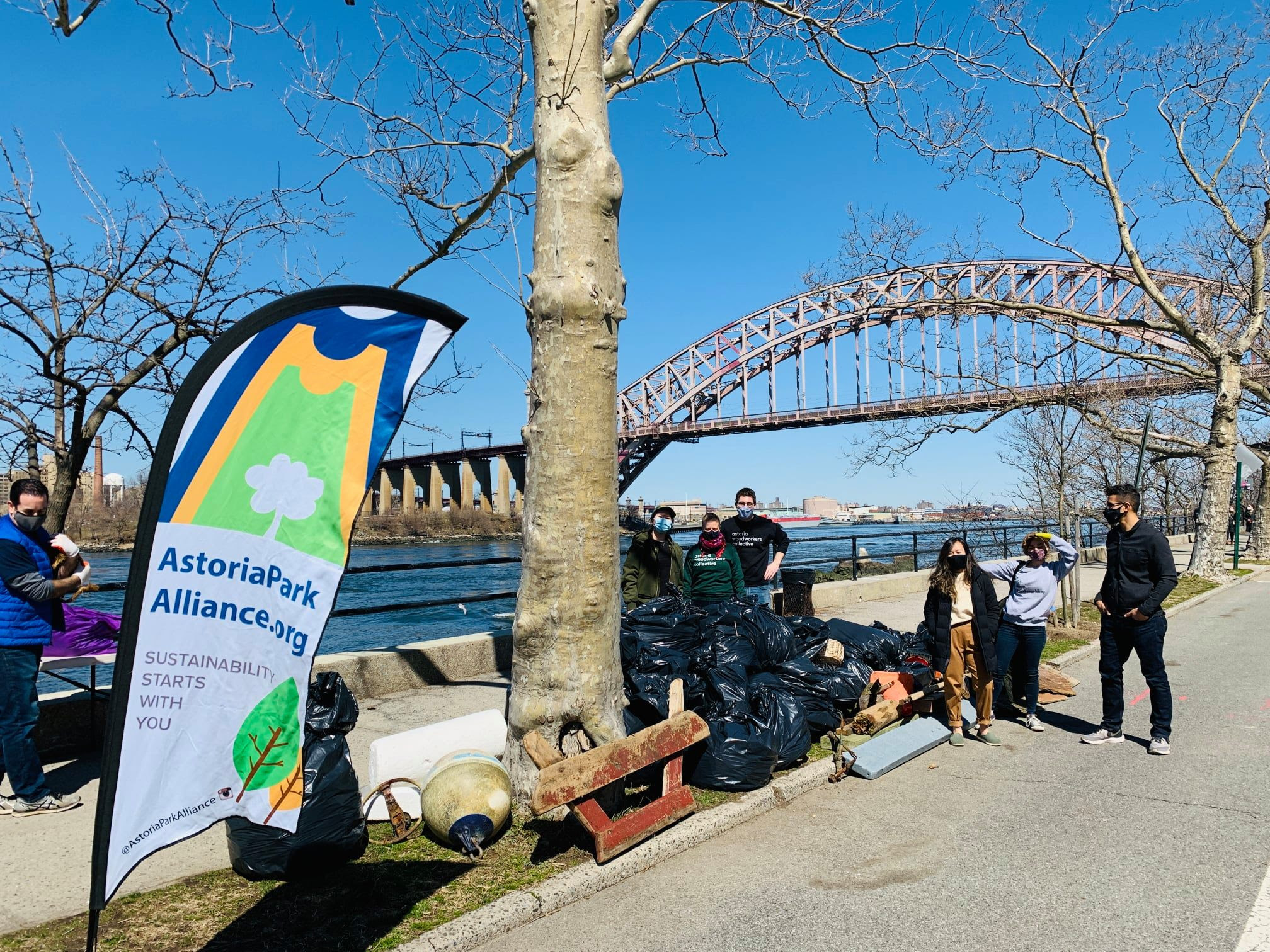 The Astoria Park Alliance 2021 Shoreline Cleanup