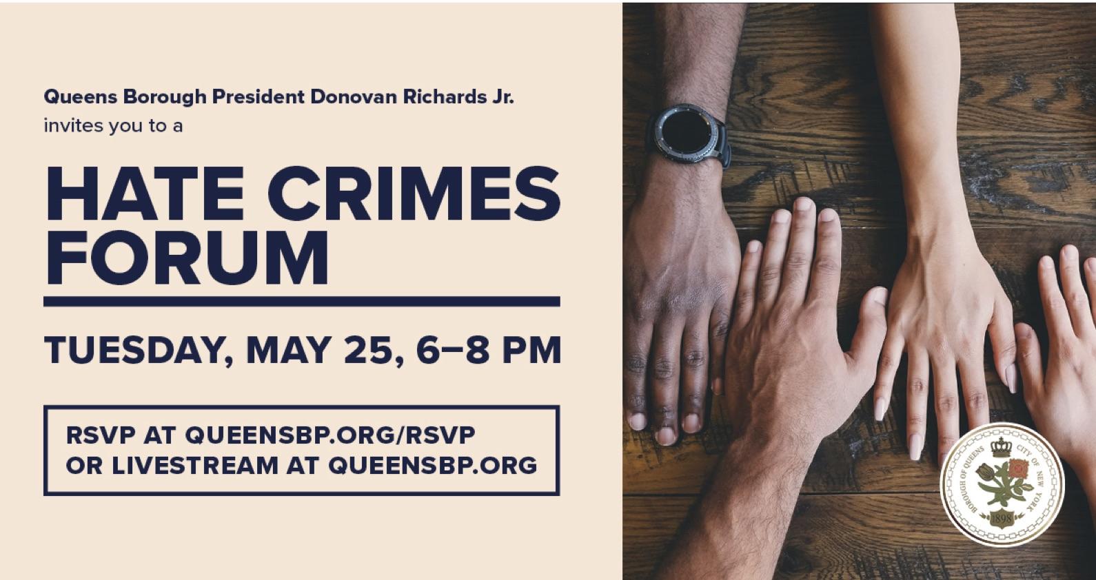 Queens Borough President Hate Crimes Forum