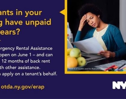 Applications Accepted June 1 For The NYS Emergency Rental Assistance Program