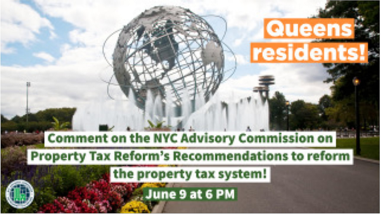 Queens Property Tax Reform Hearing on June 9
