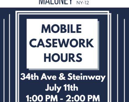 Congresswoman Maloney Mobile Casework in Astoria
